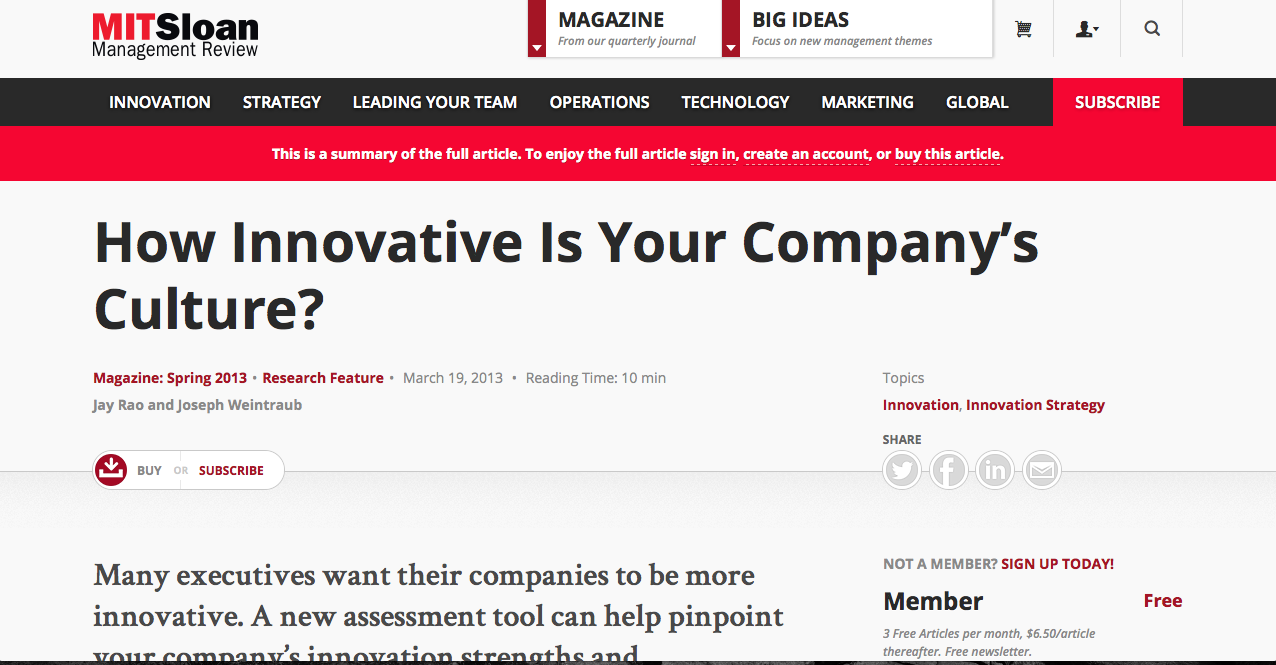 How innovative is your company's culture?