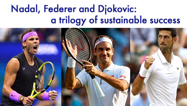 Nadal, Federer and Djokovic: a trilogy of sustainable success