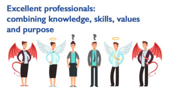 Excellent professionals: combining knowledge, skills, values ​​and purpose